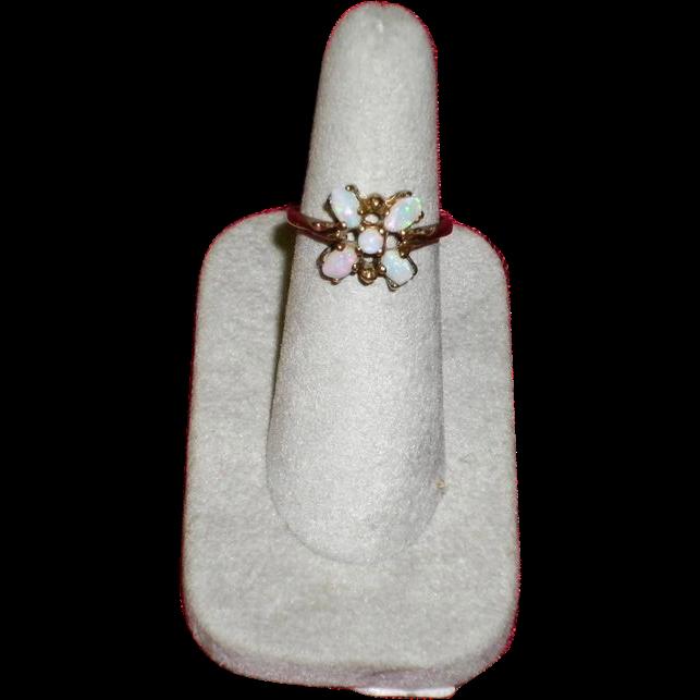 Women's Opal 10K Yellow Gold Ring Size 7