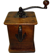 Antique Wooden Coffee Grinder Circa 1900