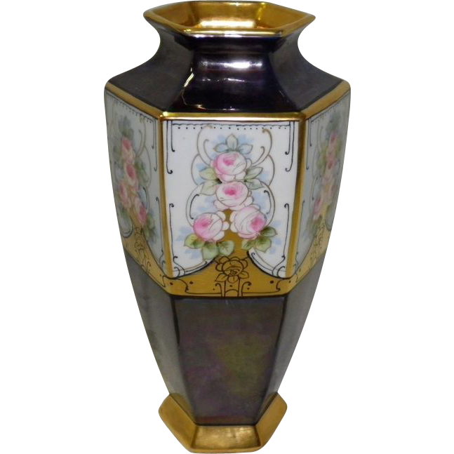 Rankin Vase With 22KT Gold Trim Dated 1921
