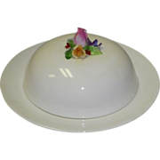 Crown Staffordshire Covered Butter Dish