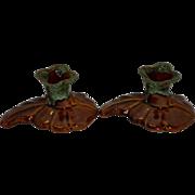 Set Of 2 Van Briggle Candlestick Holders