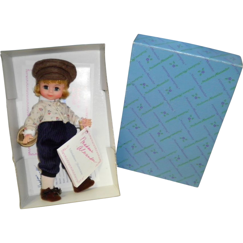 Tom Sawyer Doll #491 By Madam Alexander Miniature Showcase Collection