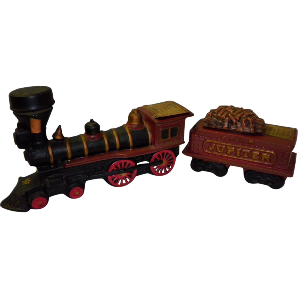 Vintage 1969 McCormick Whiskey 7 Piece Decanter Train Set