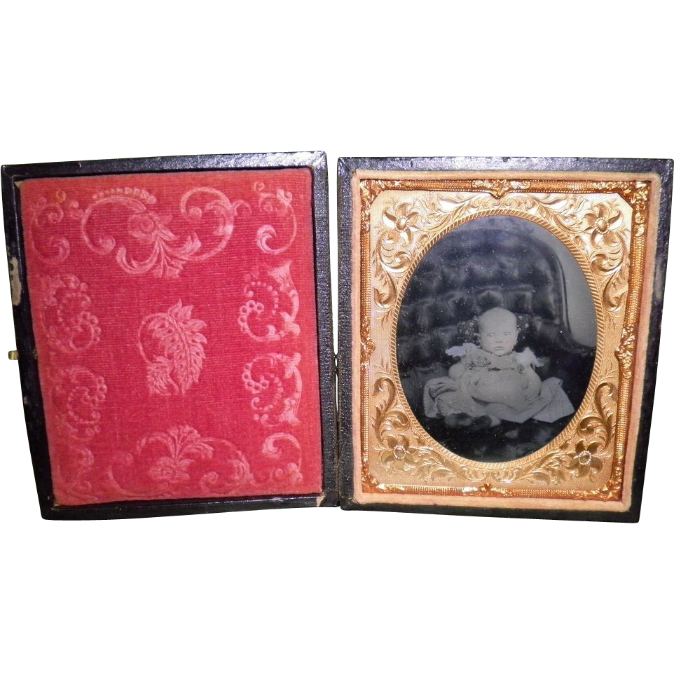 Tin Type Picture Of A Baby
