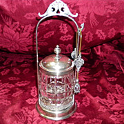 Antique Victorian Style Silver Plated Pickle Castor