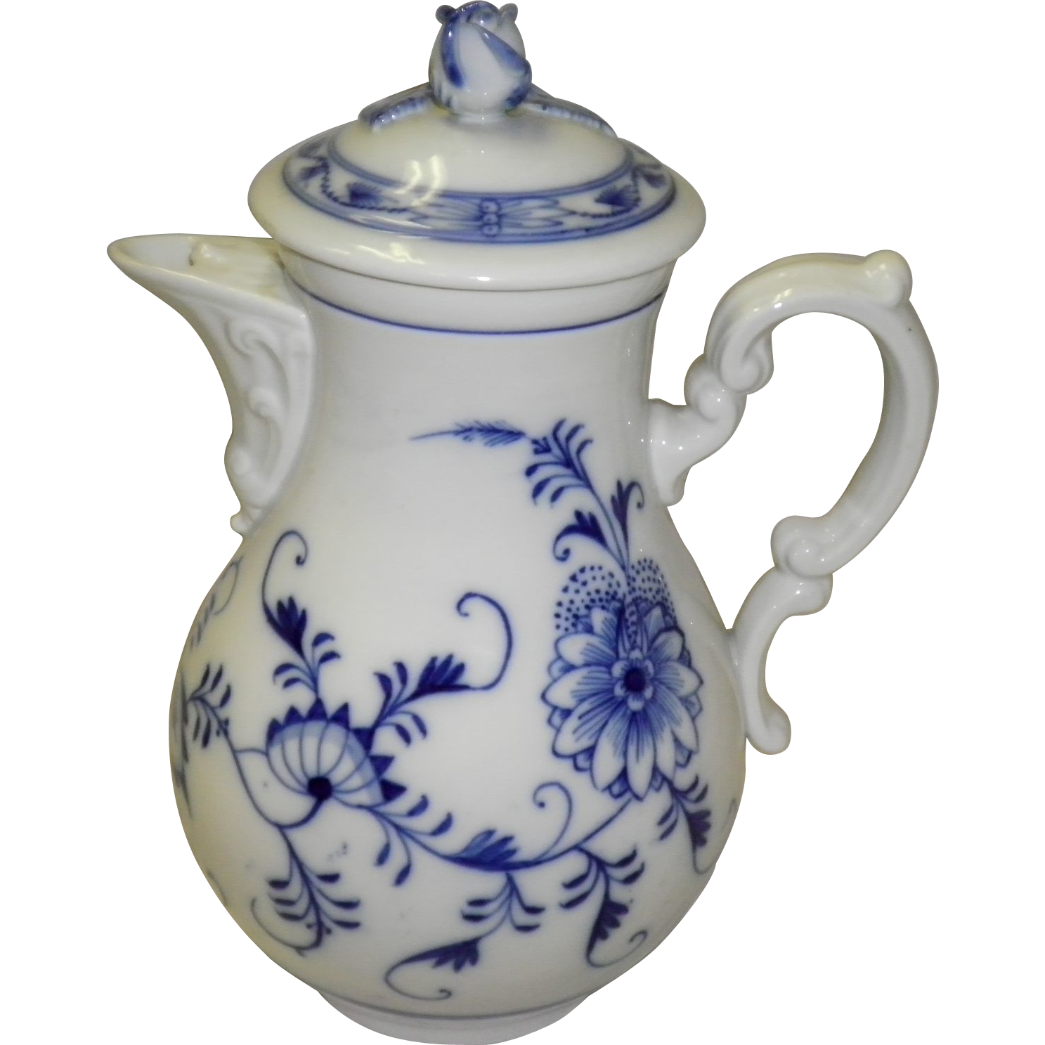 Meissen Blue On White Tea Pot