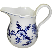 Large Meissen Blue On White Onion Creamer