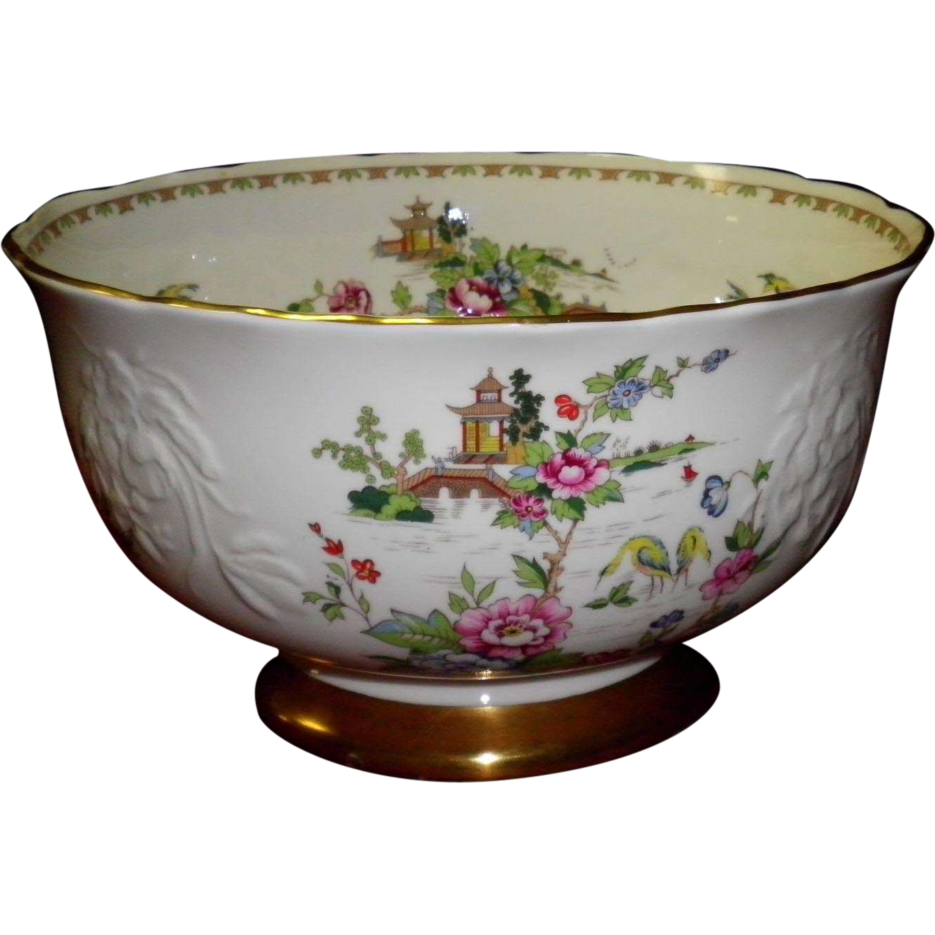 Staffordshire Pagoda Footed Bowl