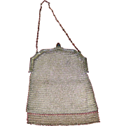 Antique Whiting & Davis Silver Mesh Purse