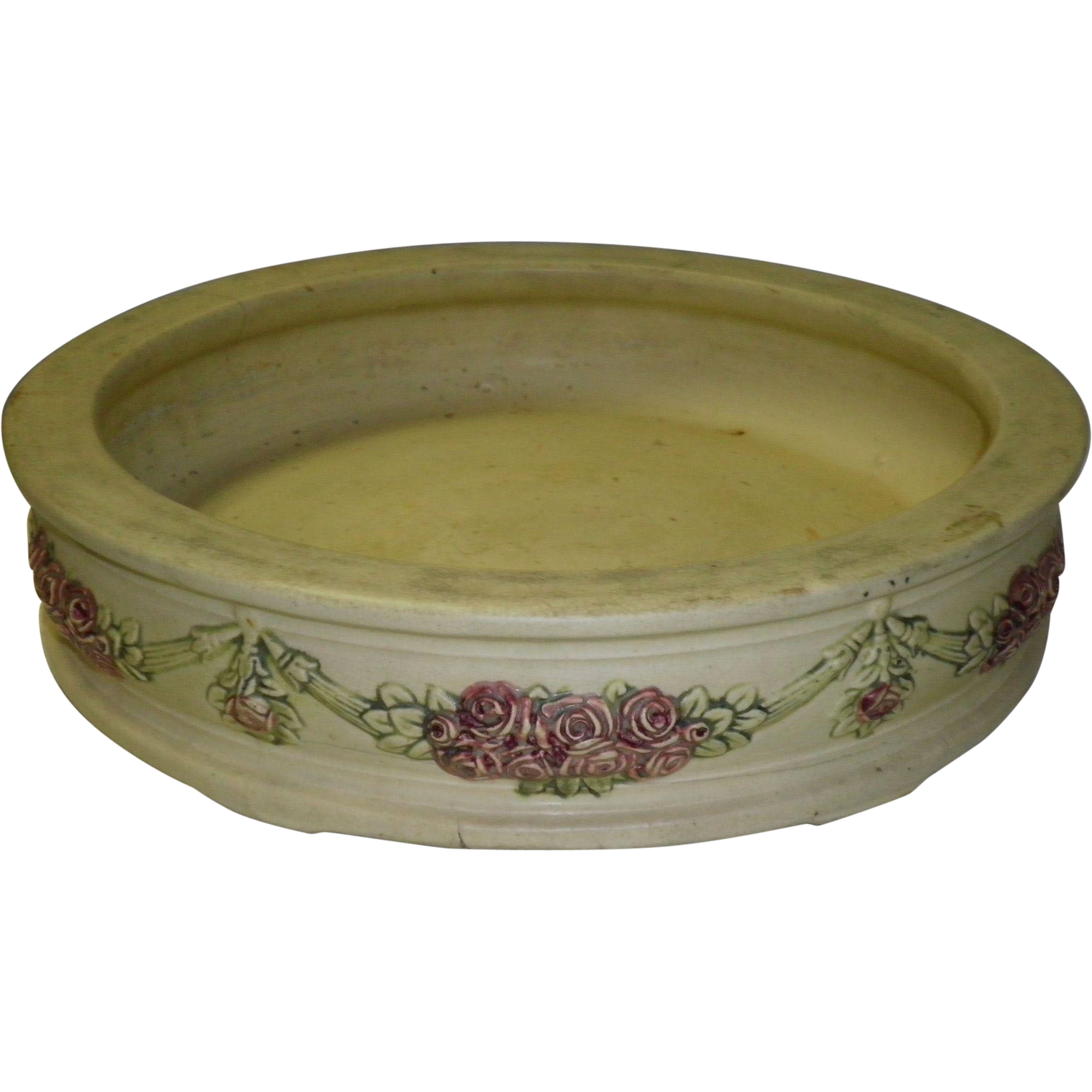 Weller Roma Pottery Console Bowl Flat Planter