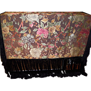 Antique Tapestry Piano Shawl  Scarf Tablecloth