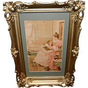 Victorian 1897 Framed Fairy Soap Ad Print / Picture