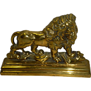 Solid Brass Lion Door Stop