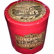 "Vintage ""Wilderbbeck Tea"" Waxed Cardboard Container / Bin / Box"