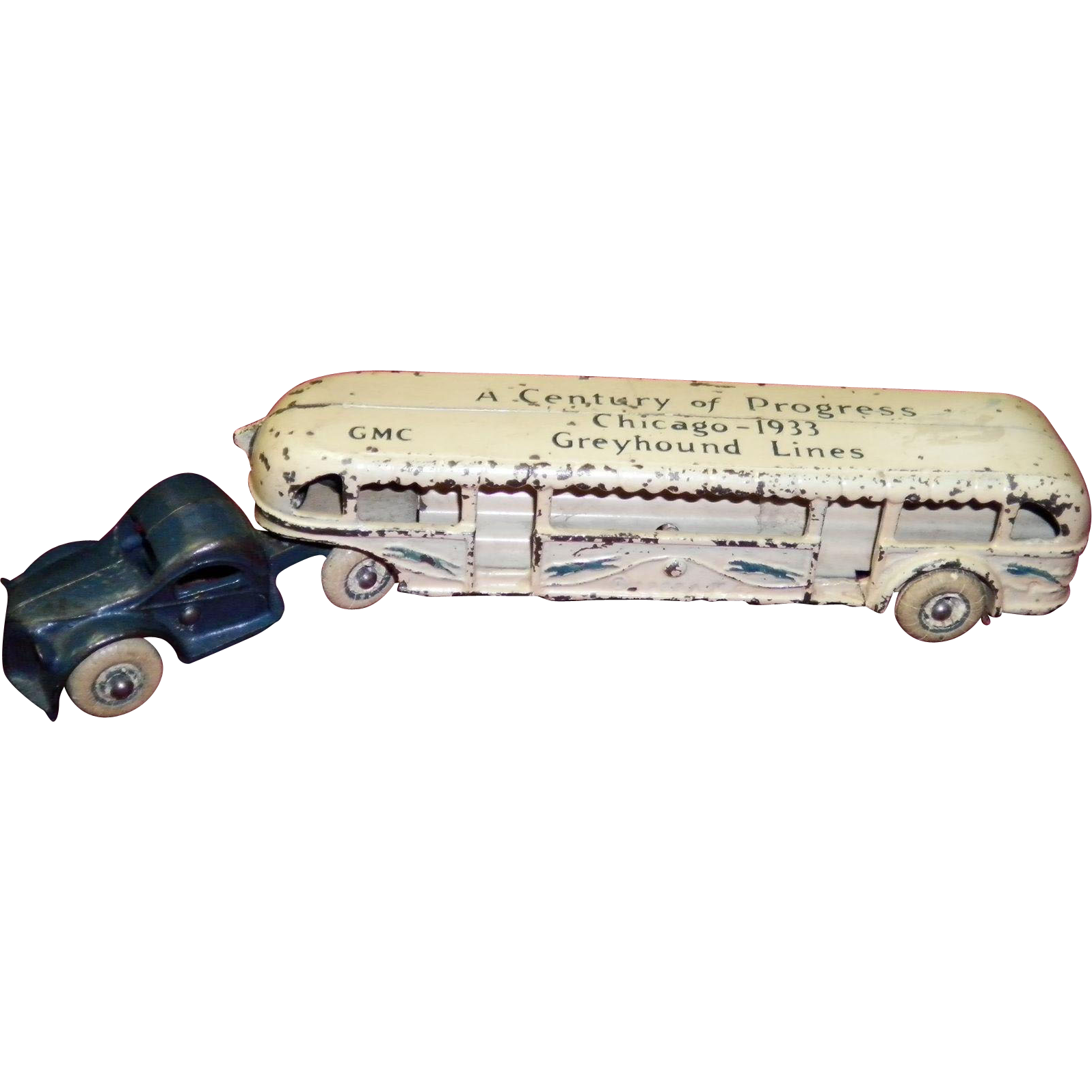 1933 Arcade Greyhound Line Bus Truck Chicago Worlds Fair
