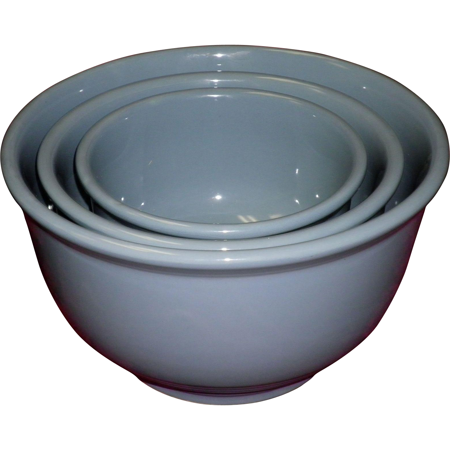 Set Of 3 McKee Blue Nesting Mixing Bowl