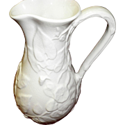 English Morning Glory Spode Pitcher With Green Mark