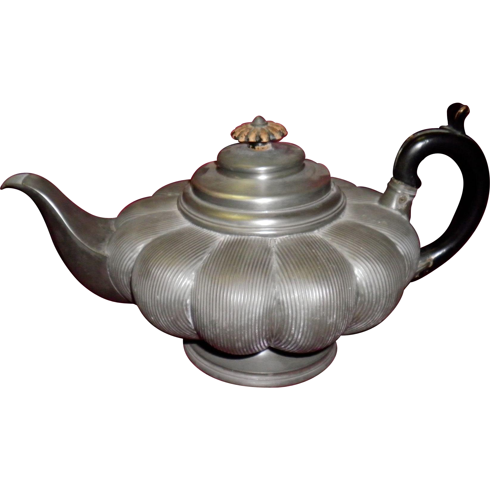 Early 1830's James Dixon & Son Pewter Teapot