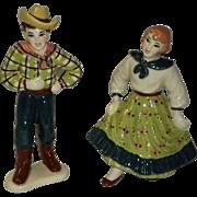 Ceramic Art Studio Figurines Square Dancers