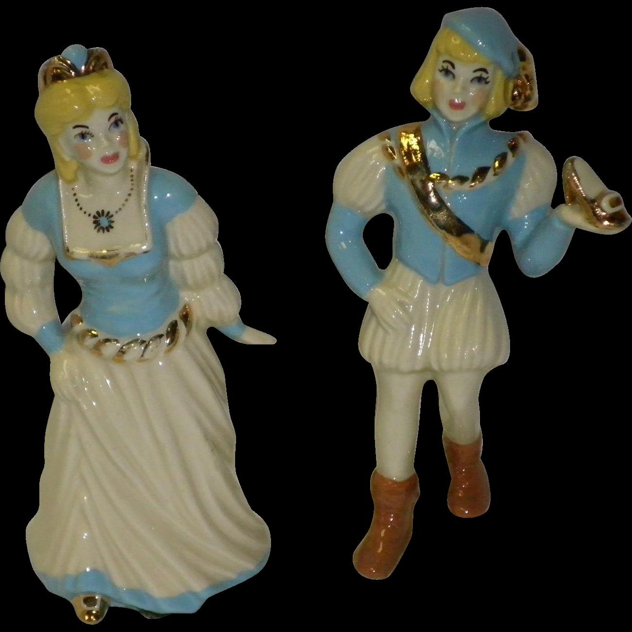 Ceramic Art Studio Figurines Cinderella And Prince Charming