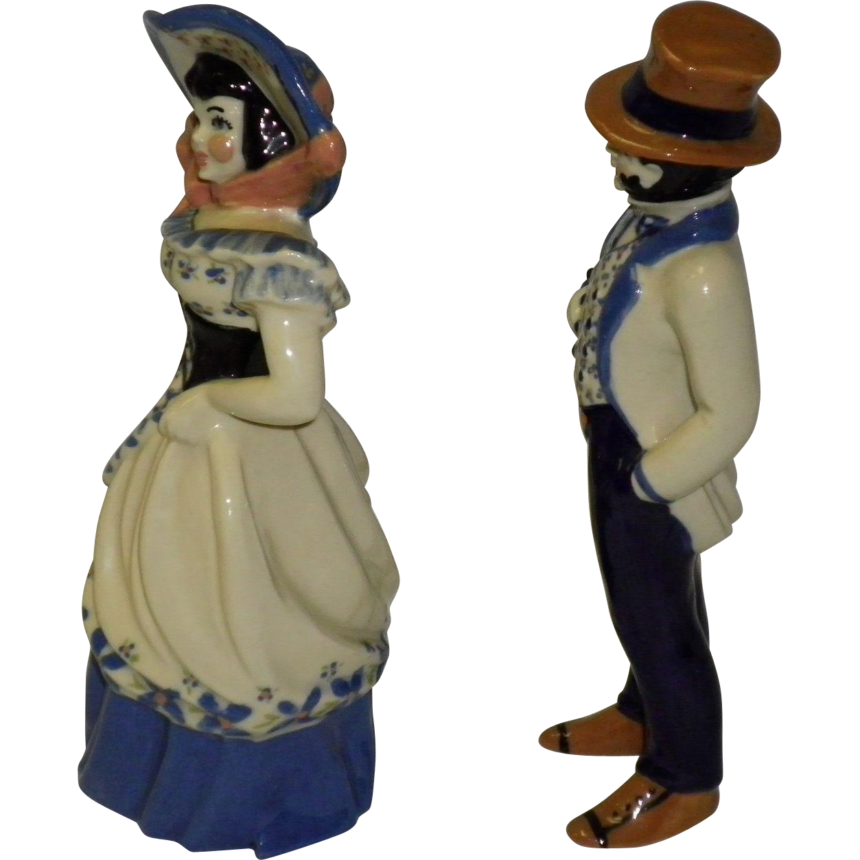 Ceramic Art Studio Figurines Colonel Jackson and Miss Lucinda