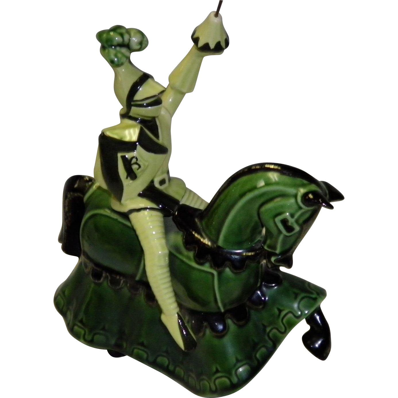 Ceramic Art Studio Figurine St. George On Charger