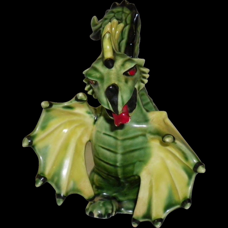 "Ceramic Art Studio Figurine ""Archibald The Dragon."