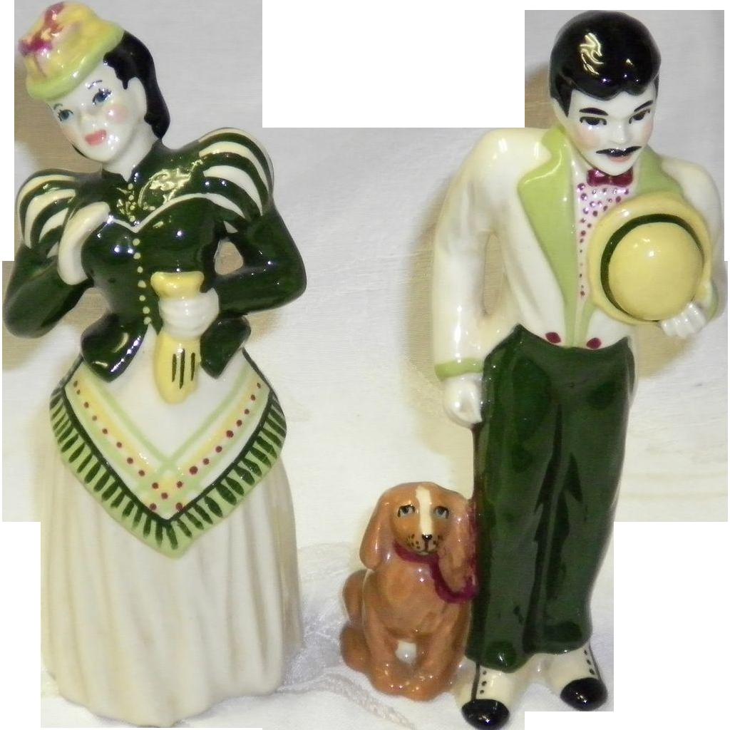 "Ceramic Art Studio Figurines ""Gay 90's Couple"""
