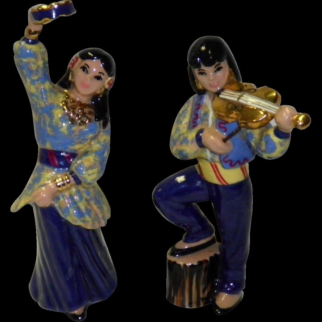 "Ceramic Art Studio Figurines ""Gypsy"" Man And Woman"