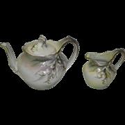 RS Prussia Teapot & Creamer