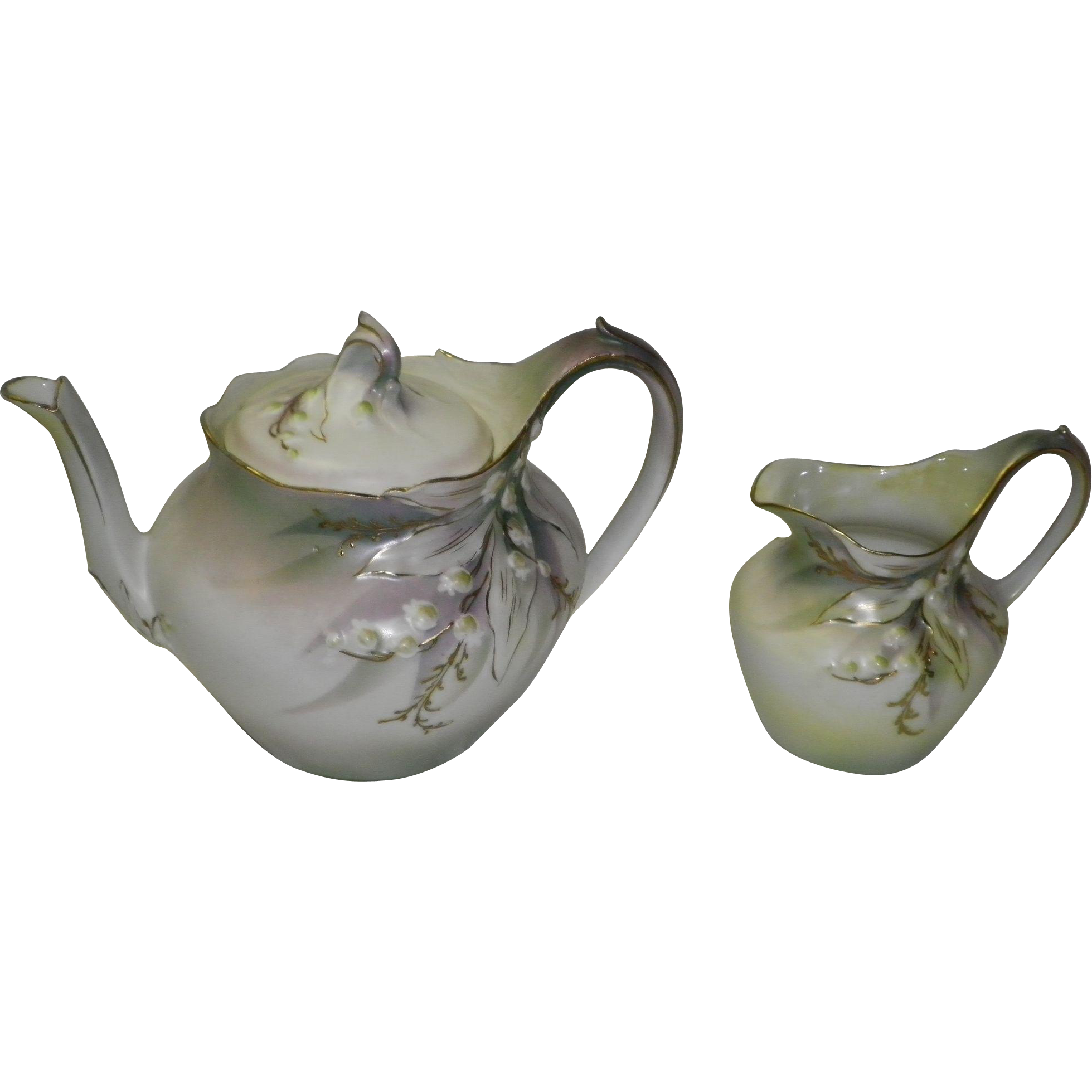 RS Prussia Teapot & Creamer