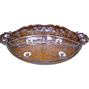 Cambridge Chantilly Footed 3 Part Relish Dish