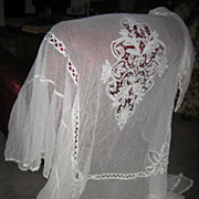 Antique twin bed French lace cover