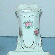 RS Prussia pink roses antique hatpin holder & ring holder