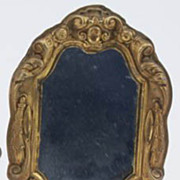 Antique doll house miniature large ornate decorative mirror 5