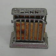 Antique doll house miniature pewter rare toaster