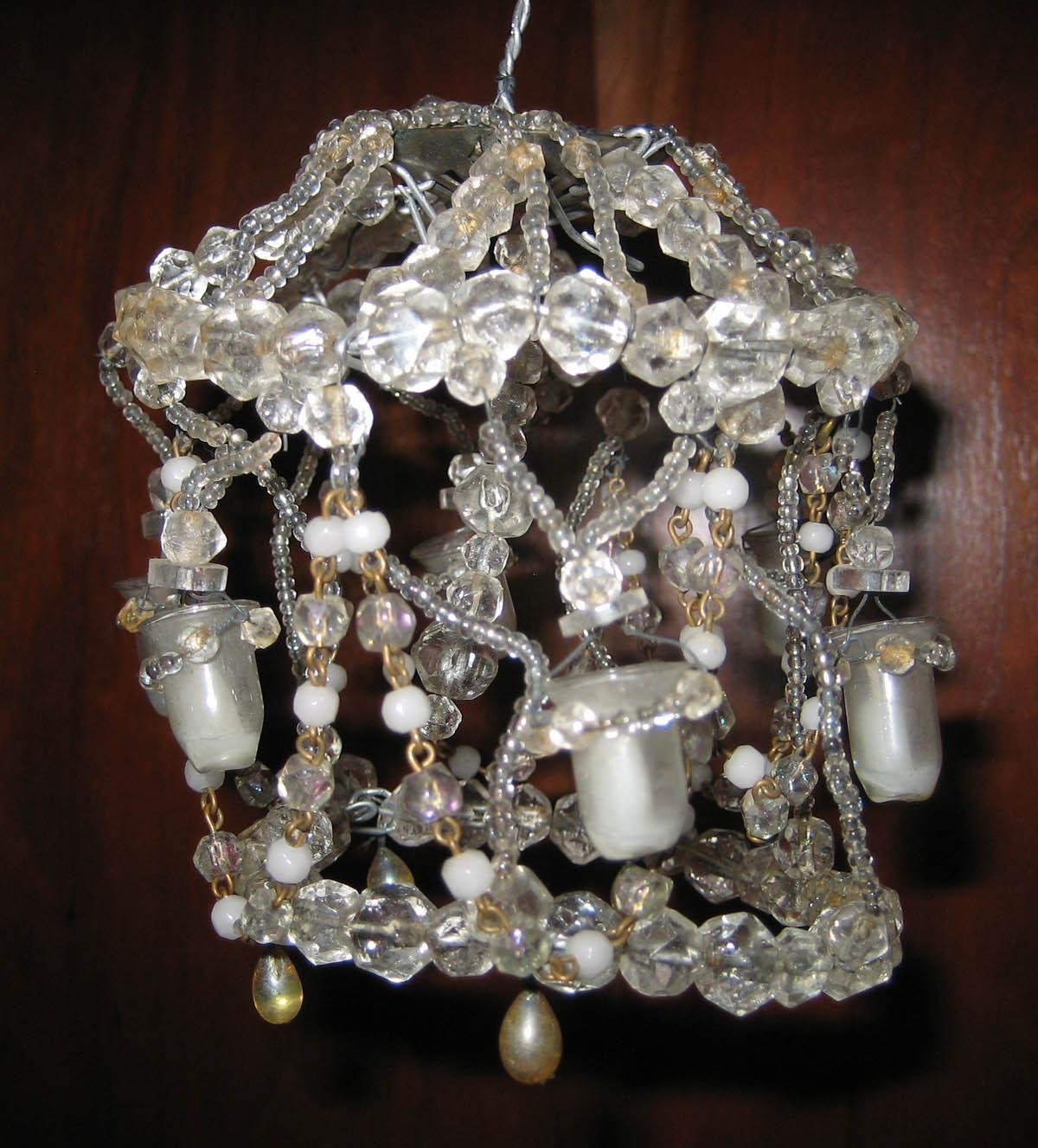 Crystal Chandelier Small Size: Larger Size Crystal Miniature Dollhouse Antique Chandelier
