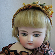 Closed Mouth turned head Early antique Kestner bisque doll