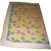 Antique quilt stars & blocks pattern Pastel colors