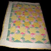 Antique quilt stars & blocks pattern Pastel colors