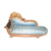 Biedermeier Boule Miniature Doll House fainting couch