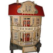 Gottschalk Red Roof antique DOLLS' House c1910