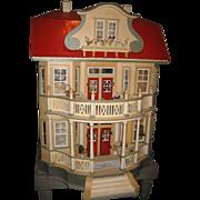 Gottschalk Red Roof antique DOLLS' House c1910