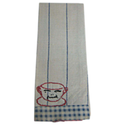 Antique children's kitchen tea decorative towel