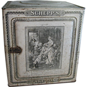 Antique Tin litho Victorian Schepp's Cake Box