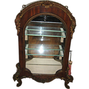 Antique mid 19th century French Louis XV style Rosewood and bronze ormolu miniature vitrine