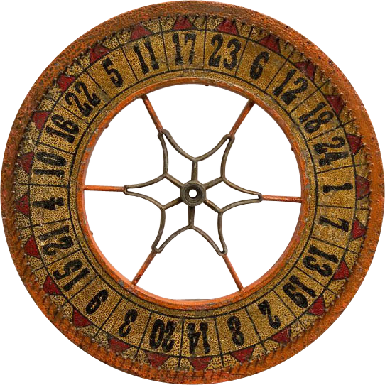 Antique Carnival Casino Game Wheel Of Chance Spoke Center