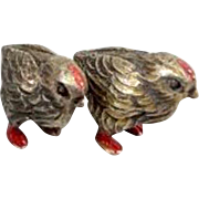 Vienna Bronze pair of miniature chickens