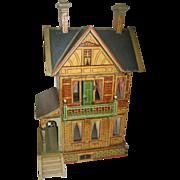 Antique GOTTSCHALK BLUE ROOF DOLLS' HOUSE