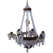 Large German dollhouse miniature beaded antique chandelier antique Christmas ornament